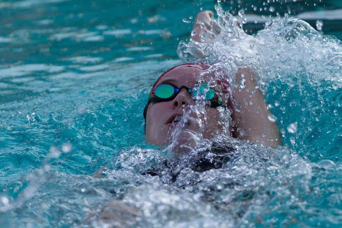 Swim+Team+Dives+Into+Third+Consecutive+Win