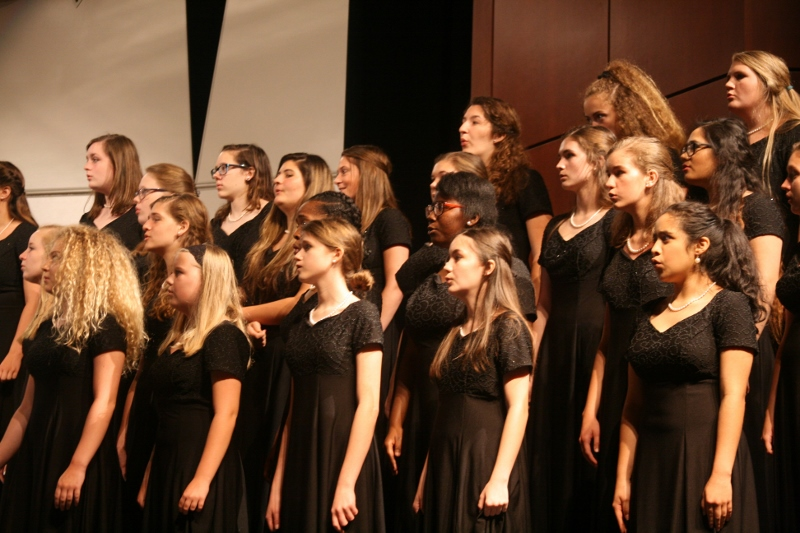 Freshmen Choir singing at Spring Concert.