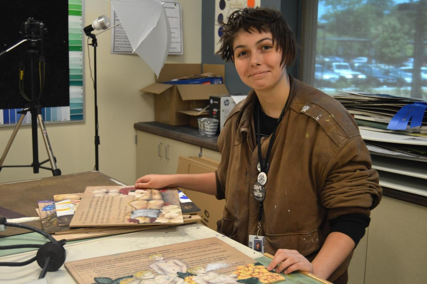 Jean-Marie Martin Creates Beautiful Art in Wando's AP Art Program