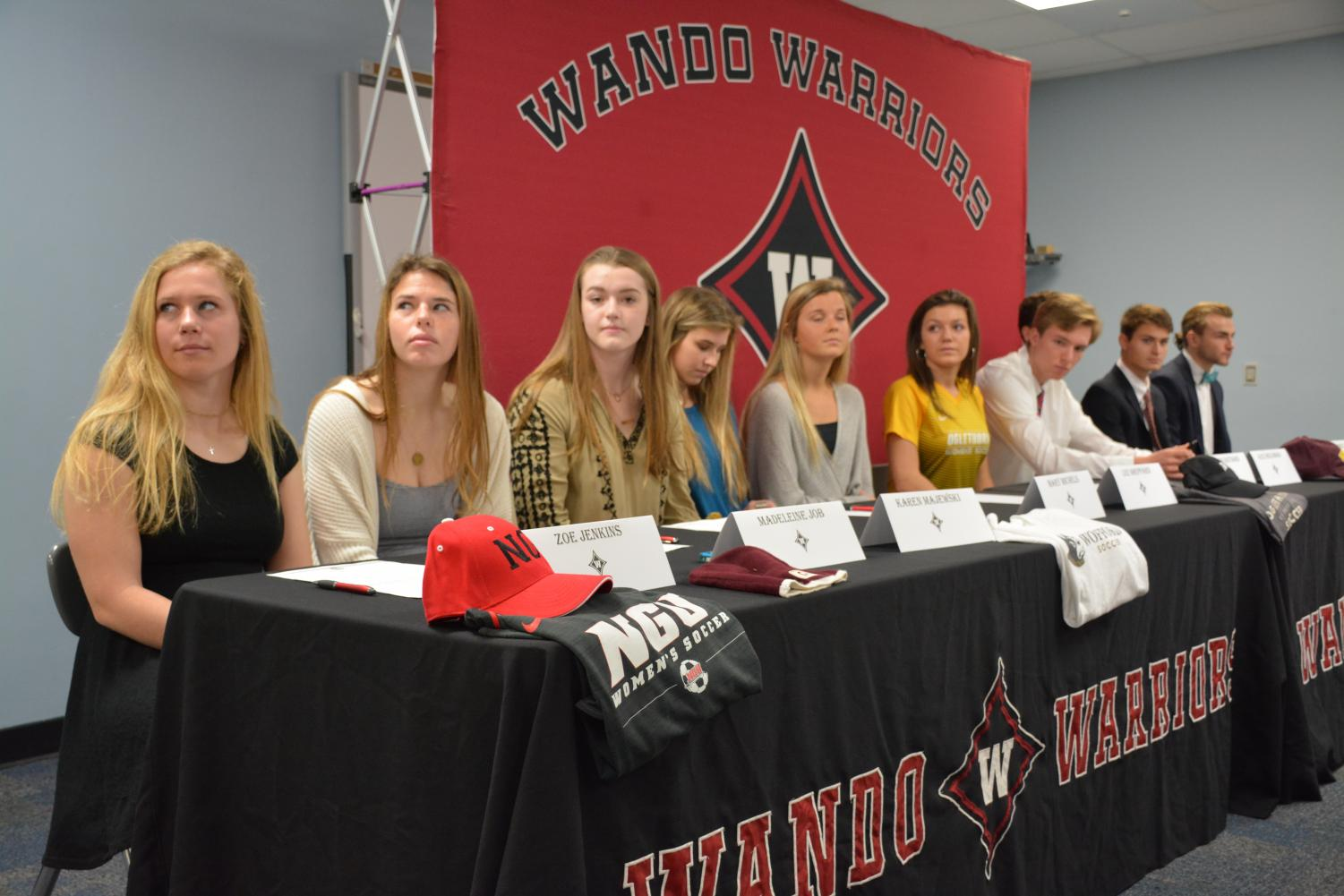 Athletes pre-signing.