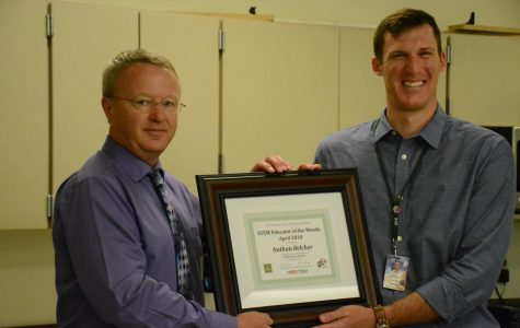 Dr. Belcher Recieves STEM Lowcounry Collaborative Teacher of the Month
