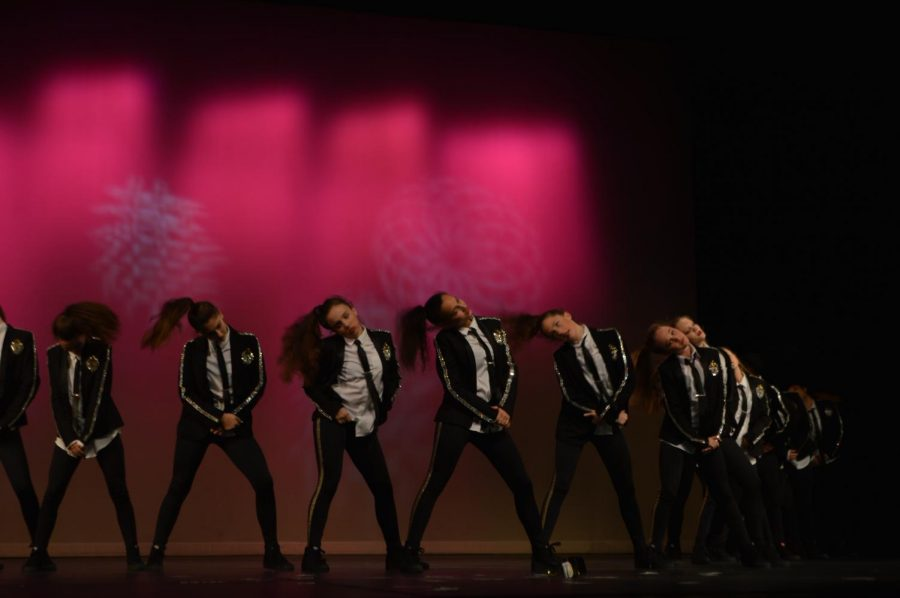 A group of Wando dancers performing at the Dance Concert on March 27.