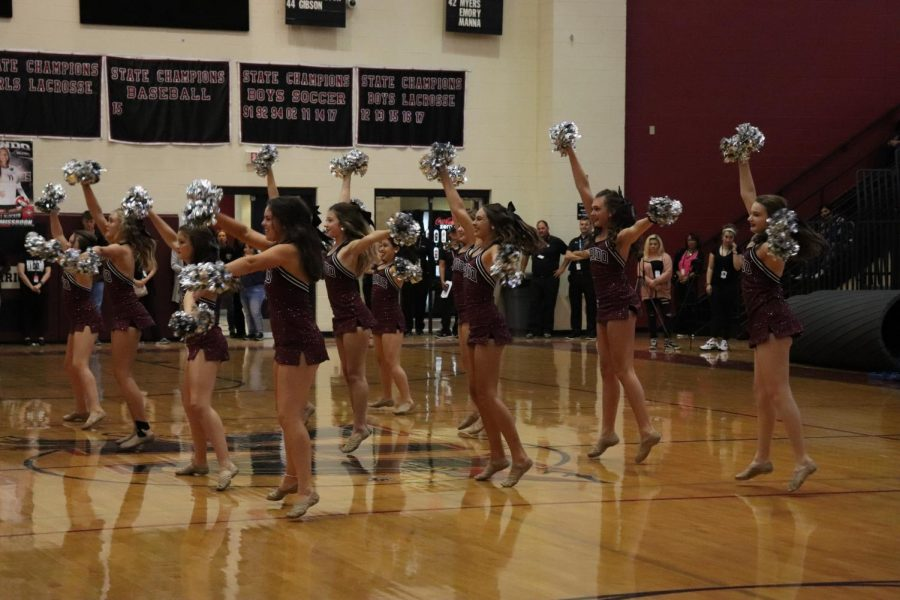 Wando Dance team performs at the pep rally