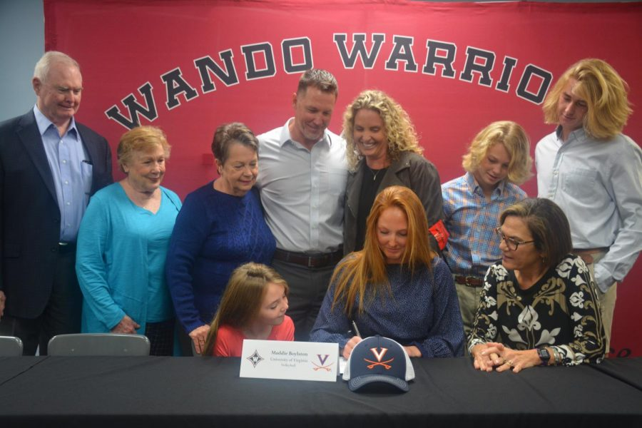Finding power and strength- Volleyball player Maddie Boylston signs with UVA