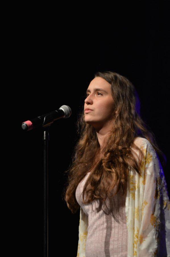 Lauren Funkhouser sings