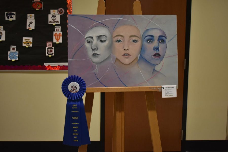 First place award for advanced painting. Created by Katherine Palmer