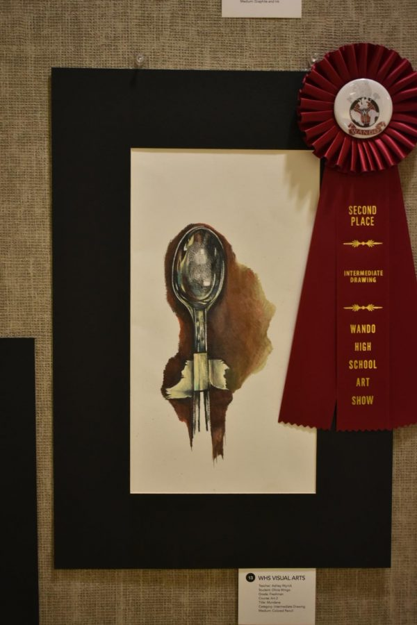 Second Place award for Intermediate drawing. Created by Olivia Wingo