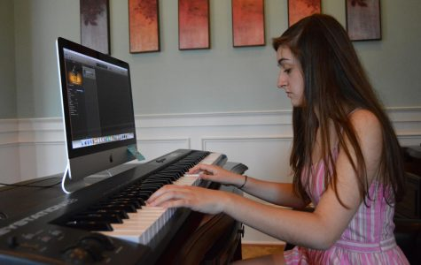 Ashley Stewart expresses her passion for music on the piano.