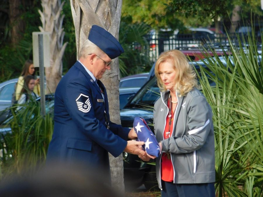 Wando Junior Reserve Officer Training Corps holds Veteran's Day ceremony