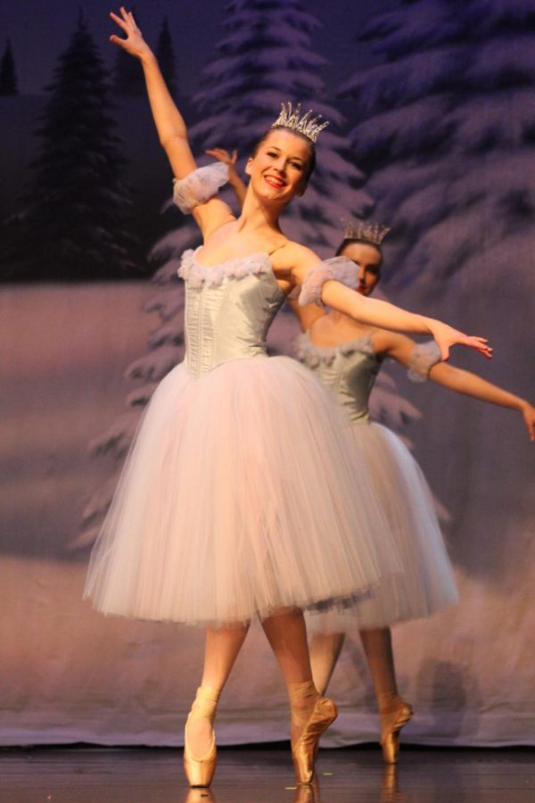 During her dance companys performance of The Nutcracker, Amelia Hathaway dances in fourth position.
