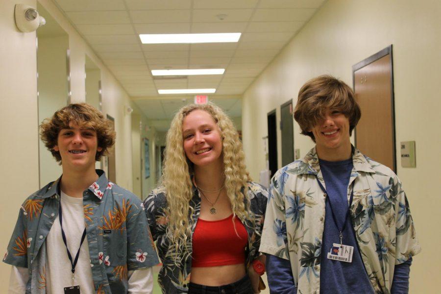 Sophomores Alden Klemm,  Izzu Truman and Jackson Bryant.