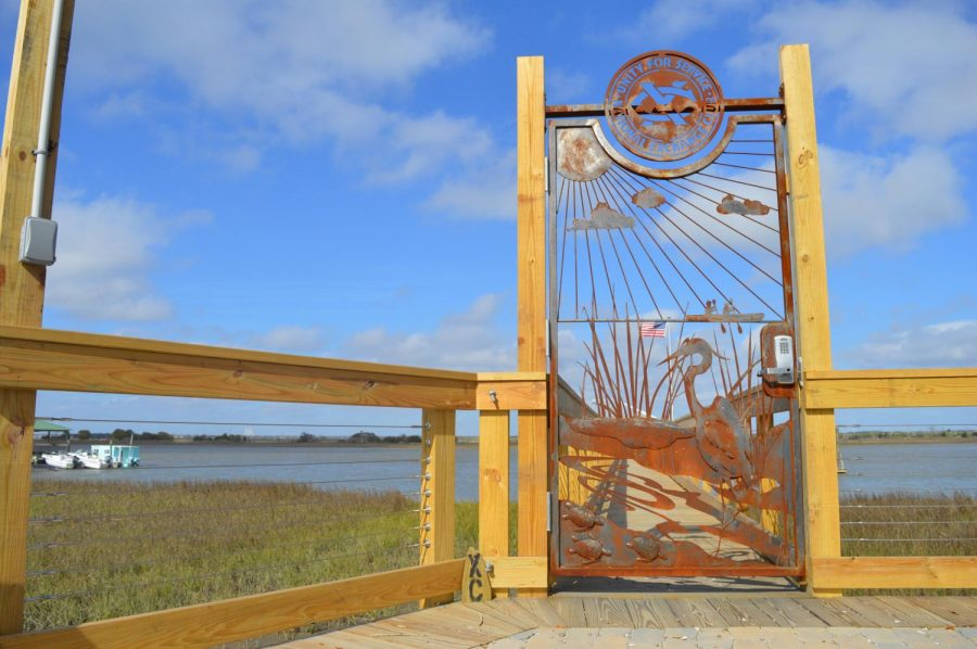 After driving down Sullivans Island my friend pulled into the National Exchange Club and stared at this gate in honor of Mary Todd Poore. With the unique detail and beautiful view, I knew this gate had to be captured in a photograph.