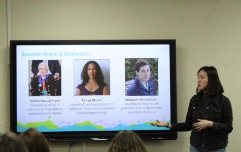 Massachusetts Institute of Technology undergraduates Janice Tjan and Trinity Stallins introduce girls to STEM