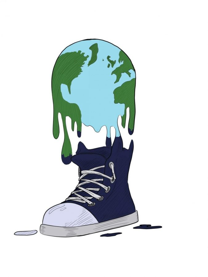 Earth melting into a shoe