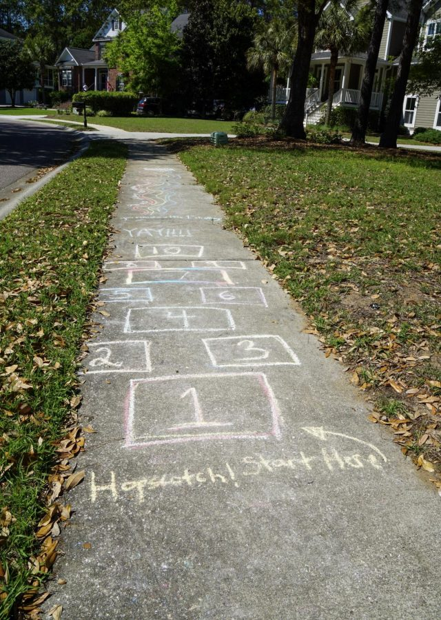 """Fitness chalk challenges appeared over Hamlin from the beginning of school closings. The one on Shell Fish Court was sparked by Maretta McKenna's container of chalk left out for passerbys to use. """"I've got this chalk sitting in my garage, so if the kids can use it I'm happy,"""" McKenna said. """"You know, it gives me a sense of hope and belonging to the community and I think that's important."""""""