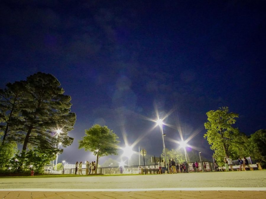 The lights of the Wando sports fields were turned on at 8 p.m. and names were read at 8:20 p.m. on April 24.