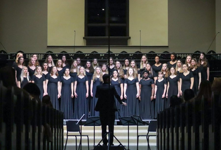 Wando Chorus' Bella Voche sings their first song at Christ Church, during the evening on Concerto Speciale on Feb. 18.