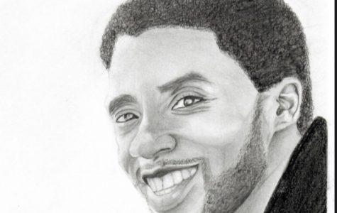 Rendition of Chadwick Boseman