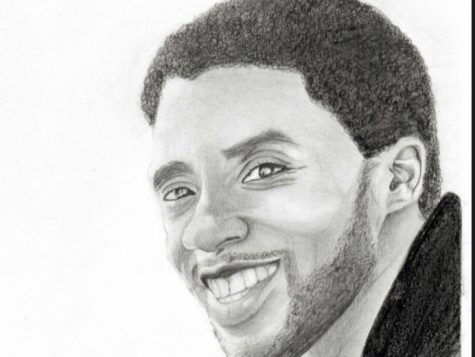 Rendition of Chadwick Boseman