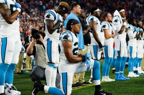 NFL Players exercise the controversial right of protesting.
