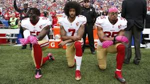 NFL players protest over the death of George Floyd.