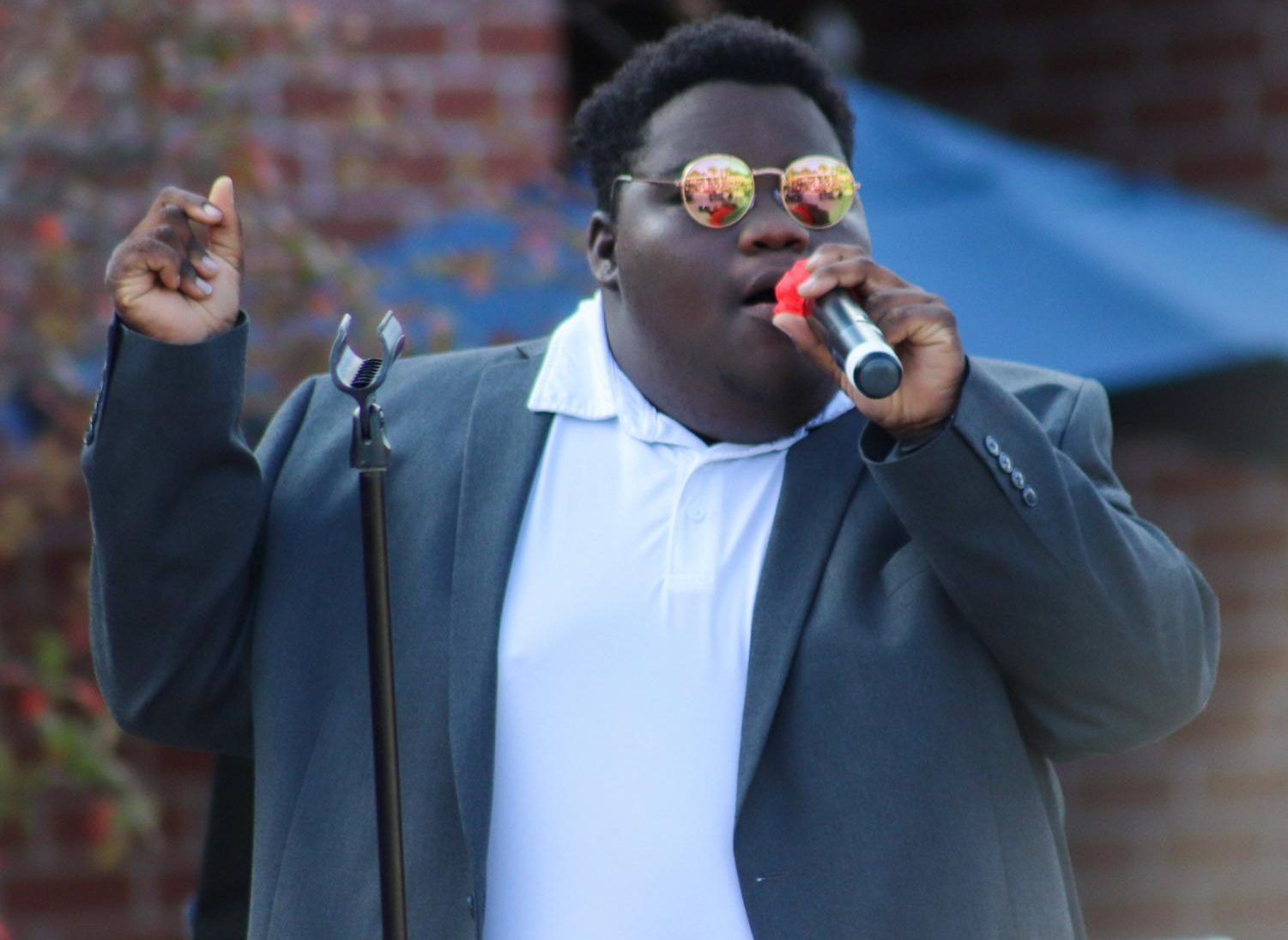 """Femi Akinjobi crushing his performance of """"Candy Rain"""" by Soul For Real."""