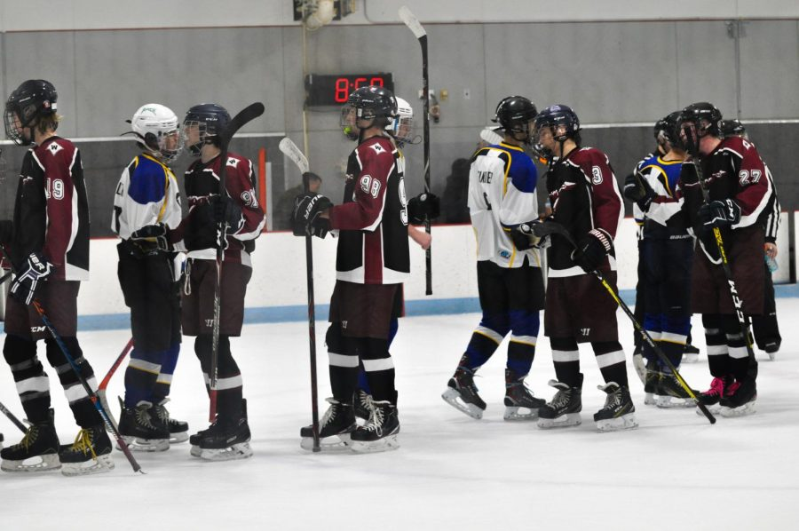 Wando shakes the hands of the Fusion team after defeating them 5-1 on Nov. 6.