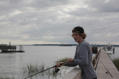 Lukas Bernard pursuing his passion of fishing. Ever since I was little, fishing has been a really important part of my life. It also helps me when I need to take my mind off of something. Bernard said.